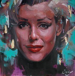 Marilyn Smile by Zinsky -  sized 35x35 inches. Available from Whitewall Galleries